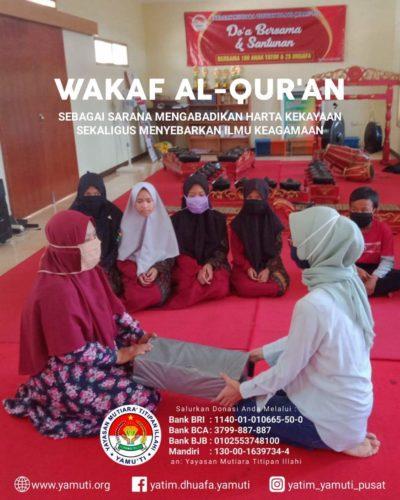 KEUTAMAAN WAKAF AL-QURAN
